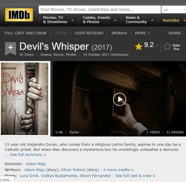 """Phim kinh dị """"Devil's Whisper: Lời thì thầm của quỷ"""" đạt 9,2 điểm IMDb (7)"""
